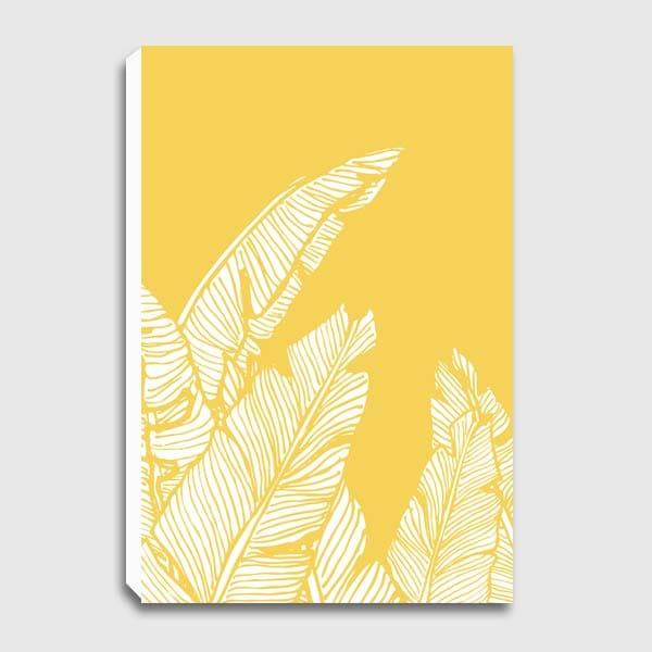 canvas-Banana-Leaves-on-Yellow
