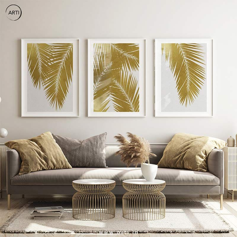 215. Gold Palm Leaves